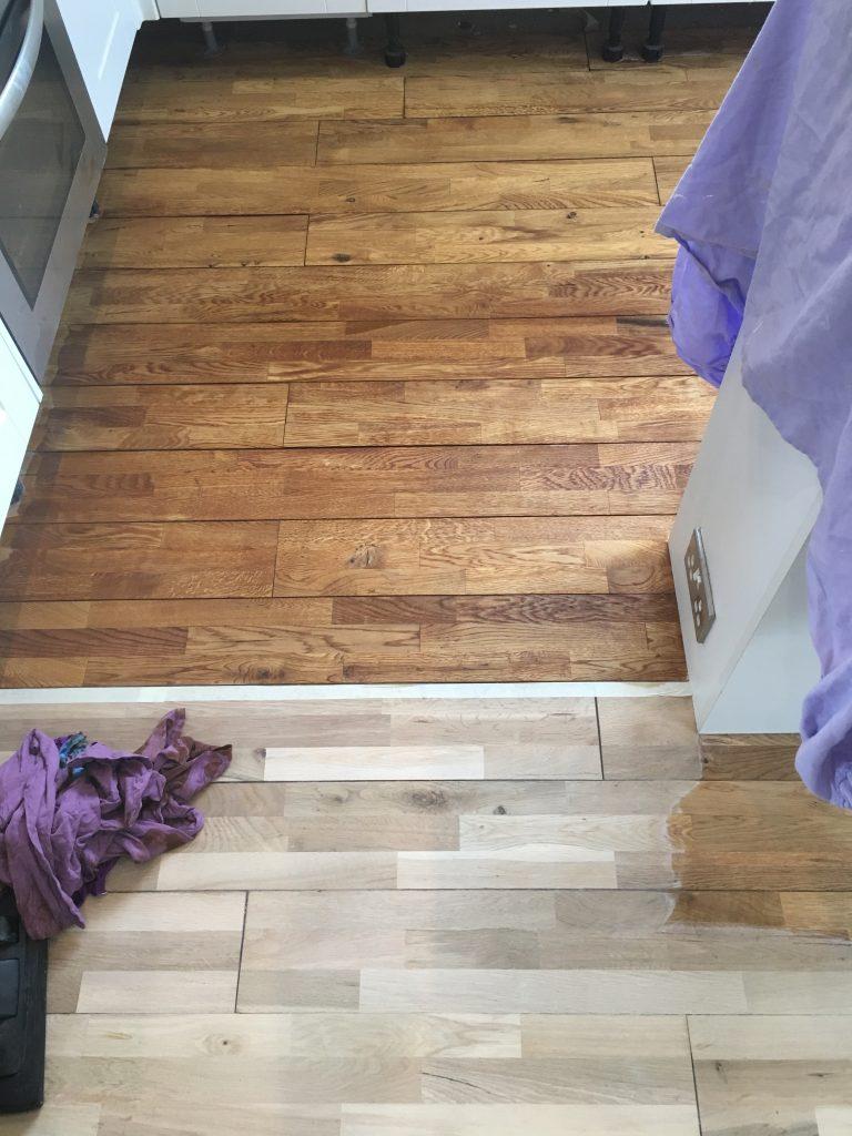 staining pine wooden floors lanarkshire