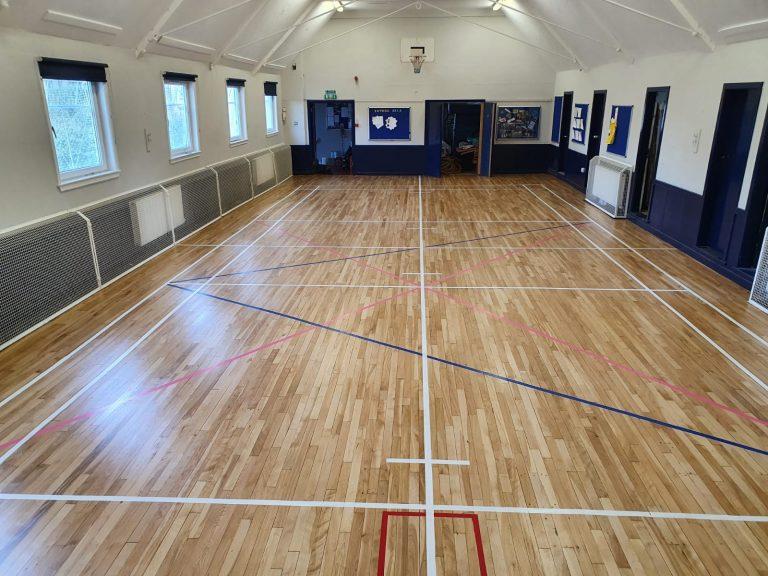 Sports floor sanding