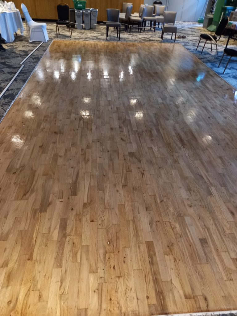 wooden dance floor sanding